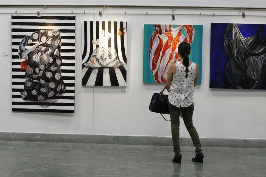 La exposición permanecerá abierta al público por dos semanas más. (Foto Prensa Libre: Paulo Raquec)