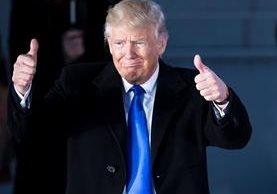 El magnate que hoy asume la presidencia de EE. UU. fue antes una celebridad del espectáculo. (Foto Prensa Libre: AFP)