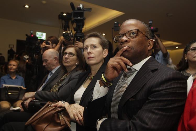 Todd Robinson en la presentación del informe de la Cicig sobre la financiación de los partidos políticos. (Foto Prensa Libre: Hemeroteca PL)