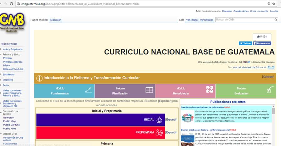 Con el CNB en línea, cualquier persona que quiera acceder a las mallas curriculares del Mineduc puede hacerlo (Foto Prensa Libre: Prensa Libre)