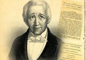 Pedro Molina dirigió publicaciones pro - independencia. (Foto: Hemeroteca PL)