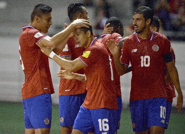 La selección de Costa Rica venció 1-0 a Haití en la primera jornada de la fase de grupos. (Foto Prensa Libre: AFP)