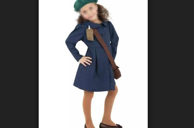 El disfraz con vestimenta que simula ser de Anna Frank ha causado rechazo, por lo que tuvo que ser retirado de la tienda. (Foto Prensa Libre: Ibtimes)