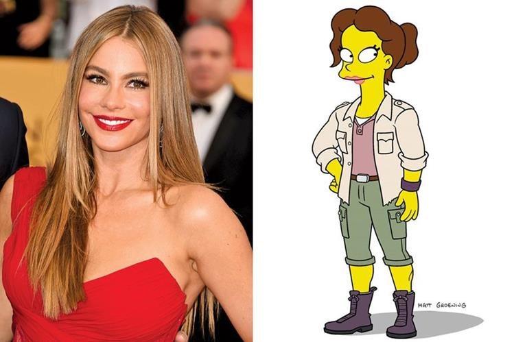 La actriz colombiana realizará la voz de la nueva maestra de Bart Simpson. (Foto Prensa Libre: Tomada de www.ew.com)