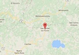Ubicación de San Rafael Las Flores, Santa Rosa. (Foto Prensa Libre: )