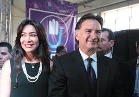 Durante el cumplimiento de pena del expresidente Portillo, Morataya mantuvo el apoyo hacia su exesposo. (Foto Prensa Libre: Hemeroteca)