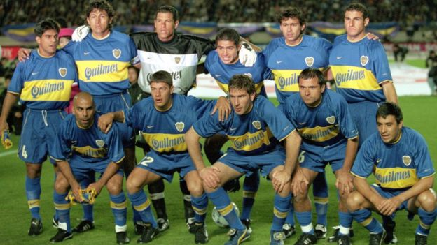 El once titular de Boca Juniors que conquistó la Copa Intercontinental al vencer 2-1 al Real Madrid. GETTY IMAGES