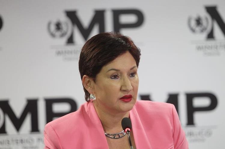"""""""Desde el momento en que esta declaración se hace pública, muchas personas son vulnerables"""", dijo la Fiscal General desde Colombia. (Foto Prensa Libre: Hemeroteca PL)"""