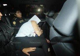 Roxana Baldetti, ex vicepresidenta de Guatemala, es capturada y trasladada a la Torre de Tribunales. (Foto Prensa Libre: Hemeroteca PL)