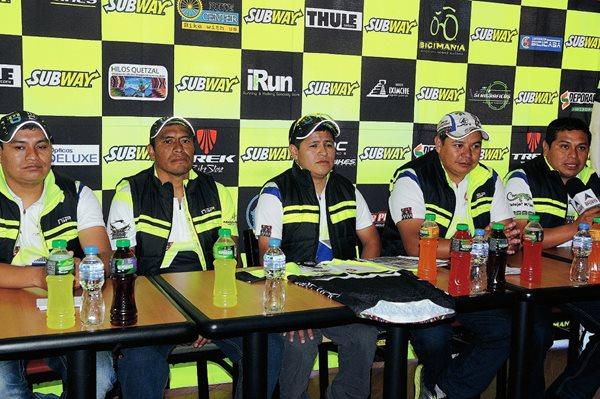 Presentaron la Carrera de Ciclismo de Montaña Al Imperio Kaqchikel Las Alturas de Tecpán. (Fotografía Prensa Libre: Jeniffer Gómez).