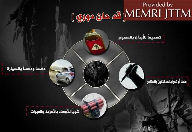 Perfil de ISIS en Telegram. (Foto Prensa Libre: memri.org)