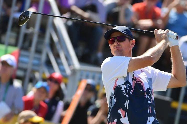 Justin Rose se consagró campeón del golf olímpico. (Foto Prensa Libre: AFP)