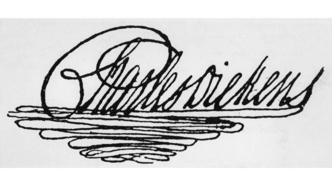 Los autógrafos de personalidades han sido codiciados desde hace siglos. (Firma del escritor inglés Charles Dickens) GETTY IMAGES