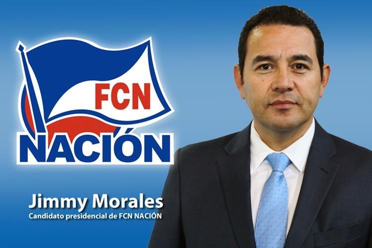 Jimmy Morales, candidato presidencial del partido FCN NACIÓN. (Fotoarte: Hugo Cuyán Vásquez)