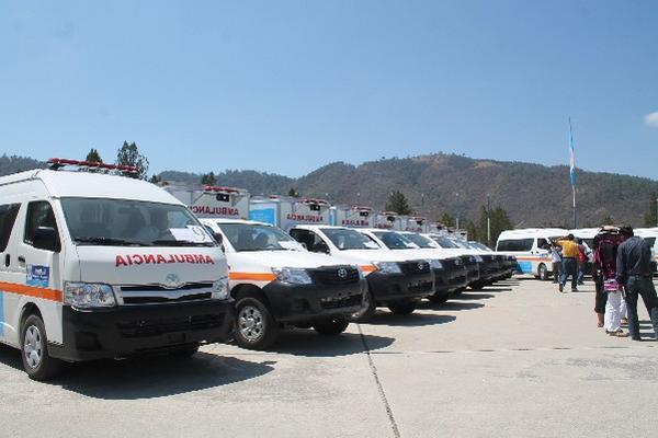 En febrero último, el Ejecutivo terminó en  Huehuetenango la entrega de  ambulancias.