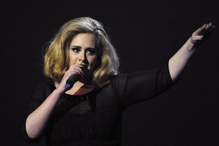 Adele promociona el álbum 25. (Foto Prensa Libre: AFP)