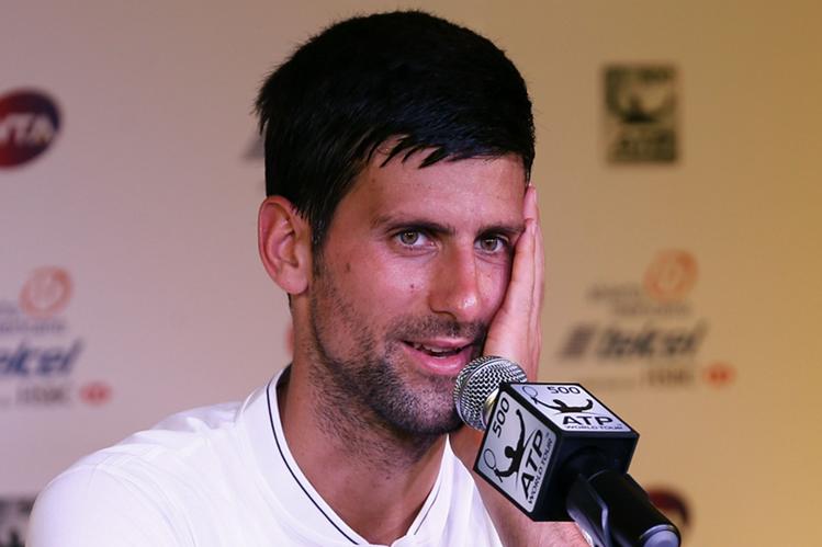El serbio Novak Djokovic aseguró que espera mostrar un buen nivel en México. (Foto Prensa Libre: EFE)