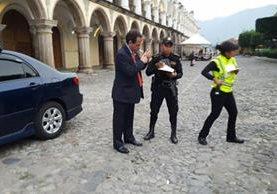 Edgardo Paz Sierke fue sorprendido en estado de ebriedad. (Foto Prensa Libre: Julio Sicán)