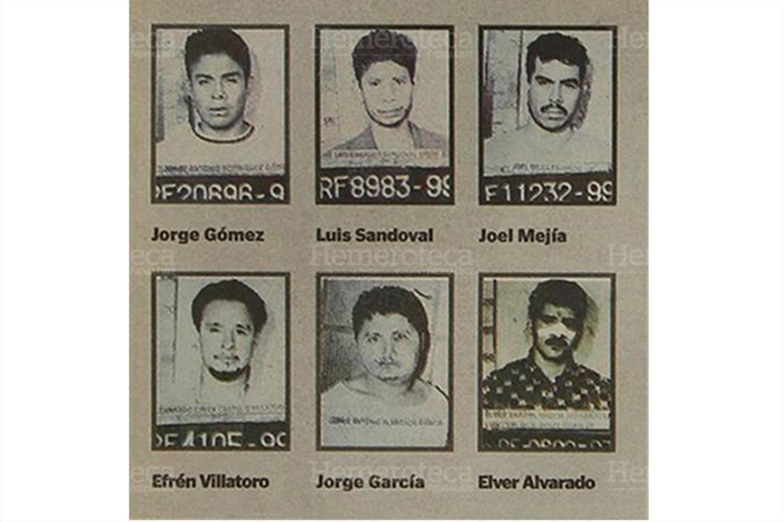 El gabinete  de Identificación de la PNC proporciona fotos de algunos fugados. (Foto: Hemeroteca PL)