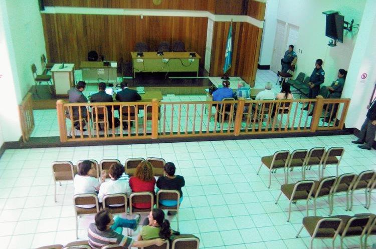 El juicio contra Max Eduardo Cordón Orellana fue efectuado en el Tribunal Segundo de Sentencia de Chiquimula. (Foto Prensa Libre: Edwin Paxtor)