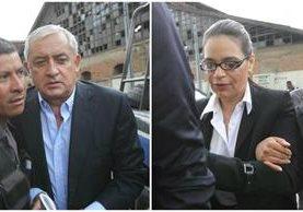 Otto Pérez Molina y Roxana Baldetti llegan a la Torre de Tribunales. (Foto Prensa Libre: Érick Ávila)