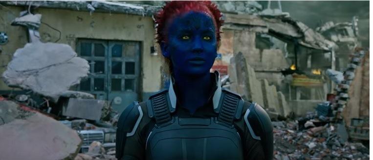 Jennifer Lawrence nuevamente encarna a Mística. (Foto Prensa Libre: Tomada de YouTube).