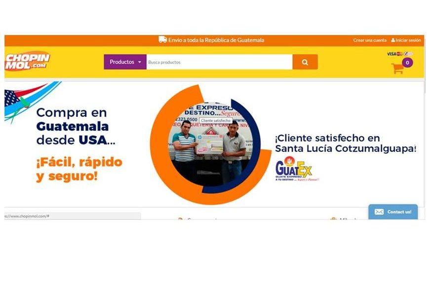 Página de inicio de tienda en línea chopinmol.com