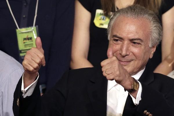 Michel Temer, vicepresidente de Brasil.
