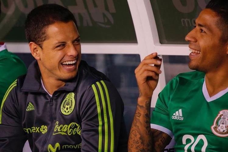 Javier Hernández encabeza la lista de la selección de México para la Copa Confederaciones. (Foto Prensa Libre: AFP).