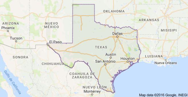 El globo aerostático con 16 ocupantes se estrelló en Texas, EE. UU. (Foto: Google Maps).