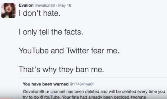 Usuaria publicó en su cuenta de Twitter las razones por las que YouTube cerró su canal.