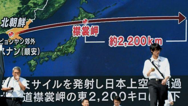 Dos misiles norcoreanos han sobrevolado territorio japonés en las últimas tres semanas. AFP