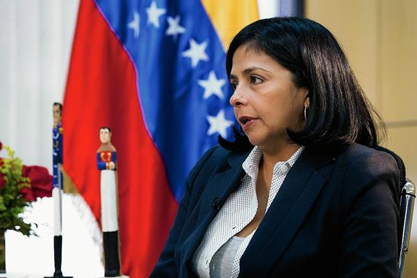La canciller venezolana, Delcy Rodríguez, reconoció que su país pidió incluir una condena contra EE. UU. (Foto Prensa Libre: Internet).