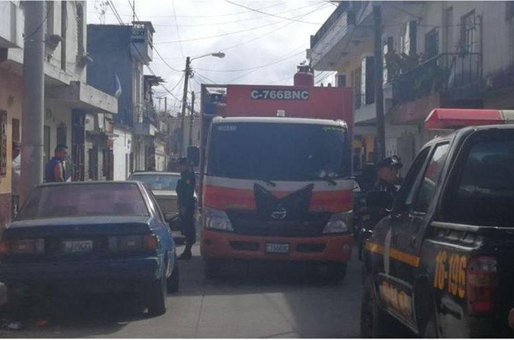 Ataque armado contra empresa expendedora de gas es el segundo en dos días. (Foto Prensa Libre: Érick Ávila)