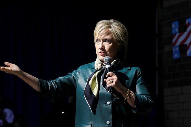 La demócrata Hillary Clinton, muestra su rechazo al pacto comercial. (Foto Prensa Libre: AP)
