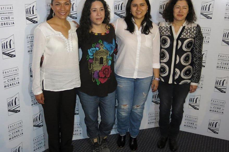 Myriam Bravo, Lucía Carreras, Ana V. Bojórquez y Sandra Paredes, de La casa mas grande del mundo, presentaron el filme en el Festival Internacional de Cine de Morelia. (Foto Prensa Libre: AP)