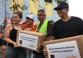 Daddy Yankee utilizó su fama para congregar a cientos de personas y ayudar a Puerto Rico (Foto Prensa Libre: EFE).