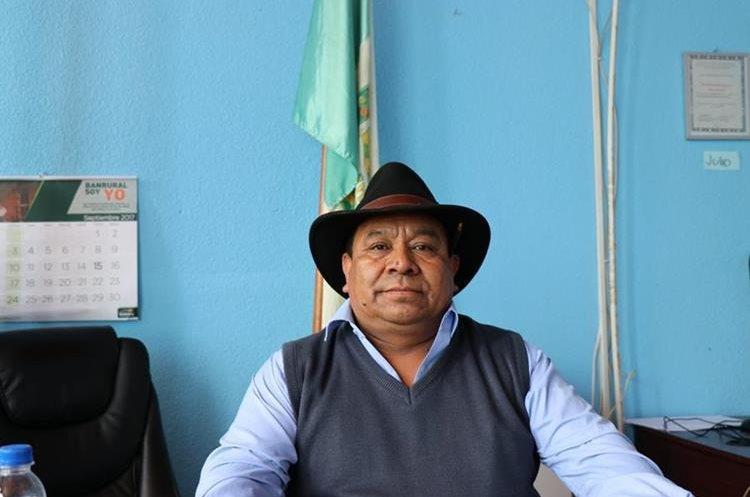 Guadalupe Beten, alcalde de Cunén, Quiché. (Foto Prensa Libre: Héctor Cordero)