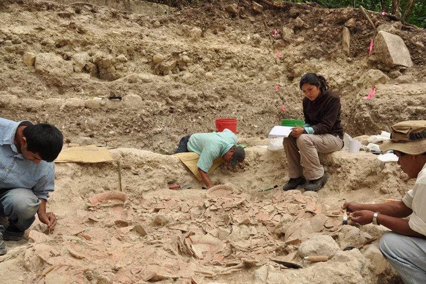 Un colapso en la ciudad Ceibal puedo haber sido ocasionado por declive en las actividades económicas, según investigadores. (Foto Prensa Libre: EFE)