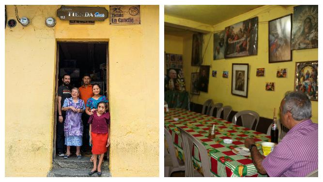 El comedor funciona desde la década de 1950 y está frente al templo mercedario de Antigua. Foto Prensa Libre: Roberto Villalobos Viato.