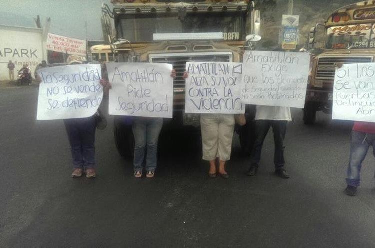 Demandas de los manifestantes. Foto Prensa Libre: Provial.