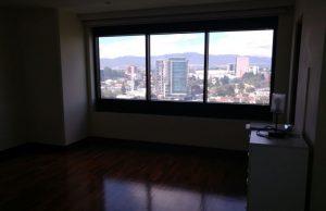 Vista desde el apartamento que pasó a manos de la Senabed.(Foto Prensa Libre: MP)