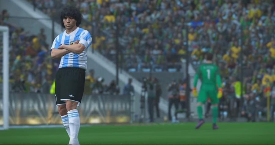 El argentino Diego Maradona anunció que demandará a Konami por usar su imagen en el videojuego Pro Evolution Soccer. (Foto Prensa Libre: Youtube)