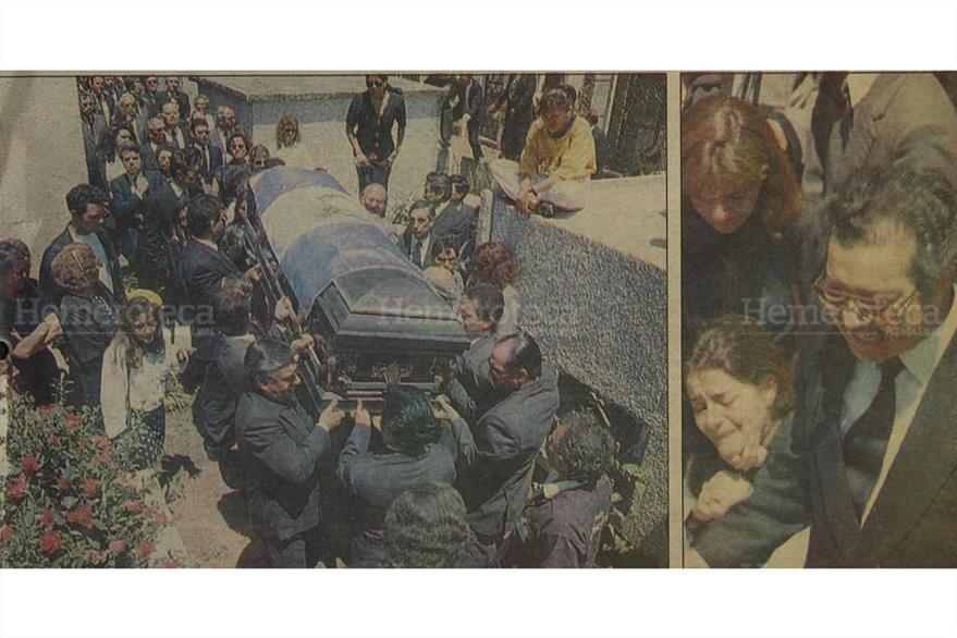 Inhuman en el camposanto Los Cipreses al Lic. Epaminondas González Dubón, Presidente de la CC el 4/4/1994. ( Foto: Hemeroteca PL)