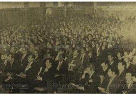 Novena Asamblea de Municipalidades, en diciembre de 1970. (Foto: Hemeroteca PL)