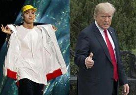 El rapero difundió un rap en el que critica varias de las acciones del presidente estadounidense (Foto Prensa Libre: servicios).