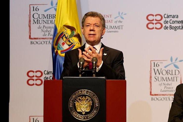 Juan Manuel Santos, presidente de Colombia y ganador del Nobel de Paz en 2016. (EFE).