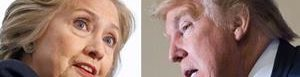 Hillary Clinton y Donald Trump.