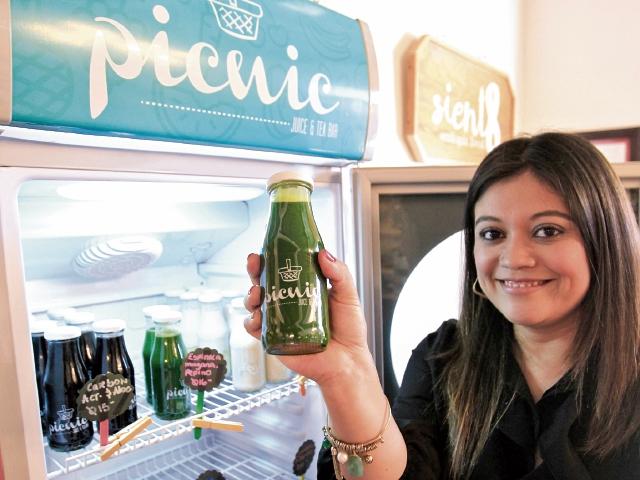de vida toma forma en los productos naturales que ofrece Picnic Juice and Tea Bar.
