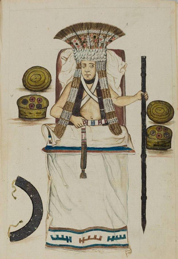 Las acuarelas también representan motivos precolombinos. ALCALÁ SUBASTAS